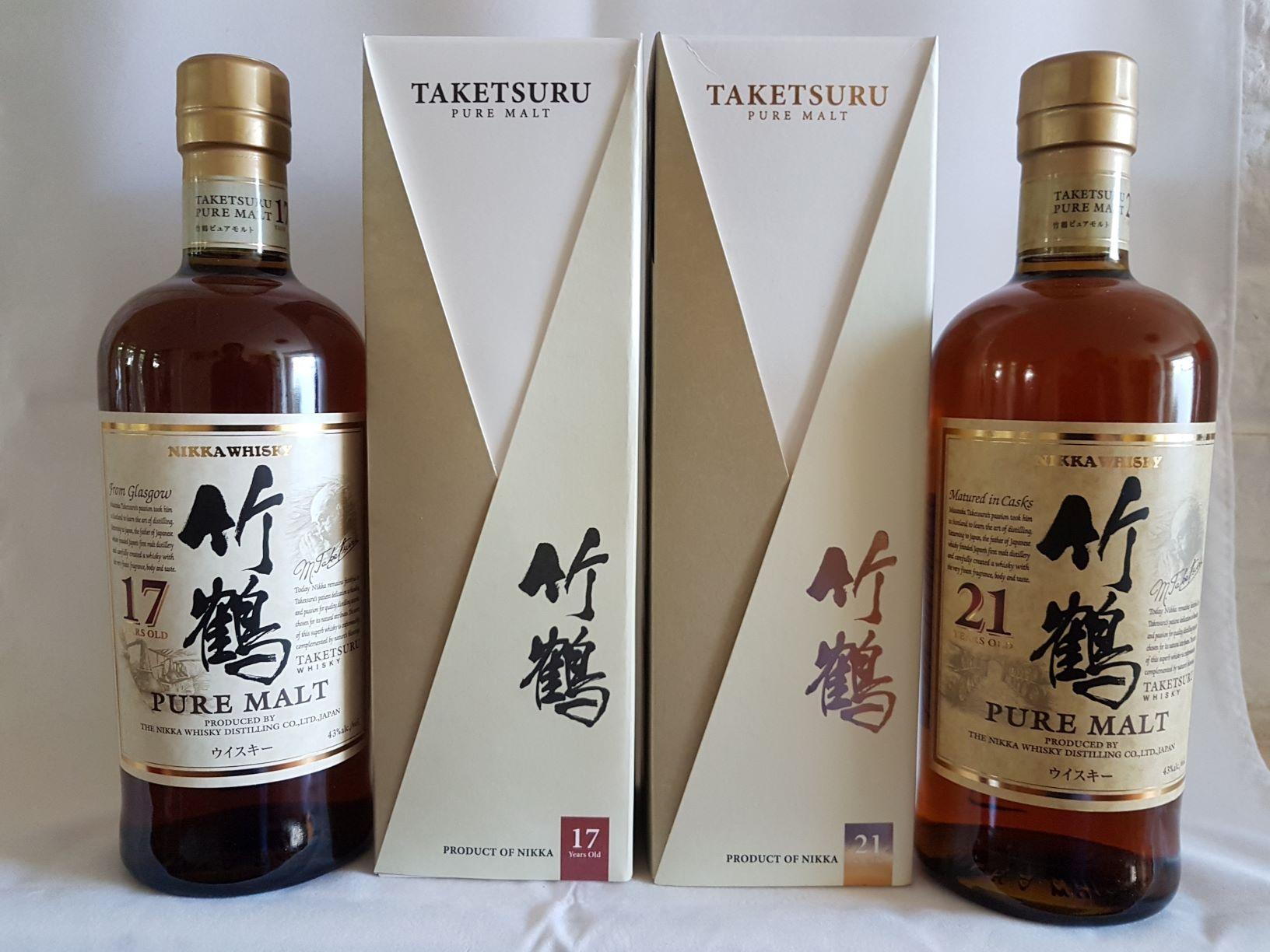 Japanse whiskyproeverij Taketsuru 17 en 21